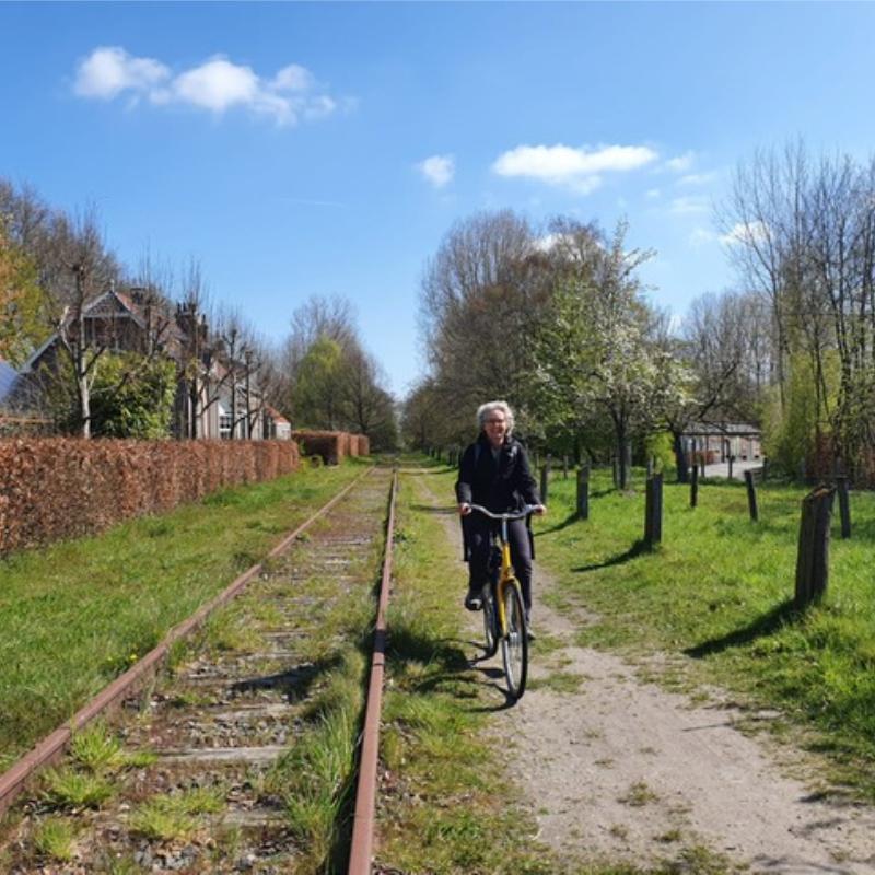 in de voetsporen van Van gogh fietsen langs oude spoorlijn